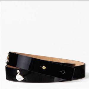 ✨NWT✨ Kate Spade Enamel Swans Patent Leather Belt